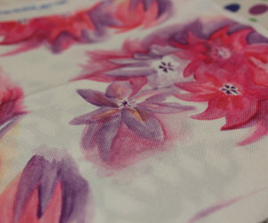 fabric, flowers, and pink image