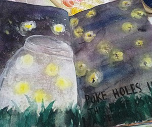 fireflies, wreck this journal, and favourite page image