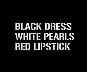 black, dress, and lipstick image