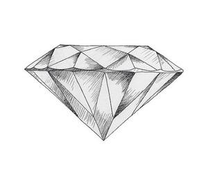 diamond, drawing, and black image