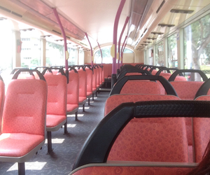 bus, empty, and seat image
