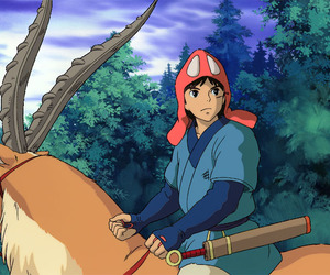 princess mononoke, studio ghibli, and ashitaka image