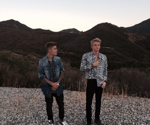 justin bieber, cody simpson, and justin image