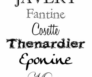 cosette, fantine, and fonts image