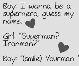 love, boy, and superhero image