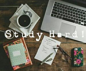 school, study, and coffe image