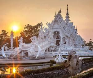 templo, white, and thailandia image