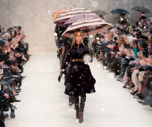 fashion, runway, and Burberry image