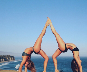yoga, work out, and fit image