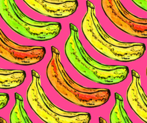 background, banana, and colors image