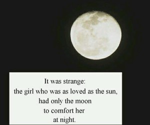 girly, moon, and quote image