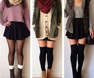 clothes, fall, and hair style image