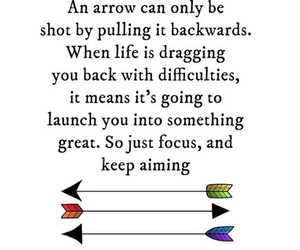 quote and arrow image