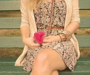 cardigan, flower, and cute girl image
