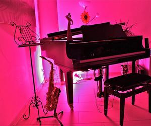 black, Grand Piano, and grunge image