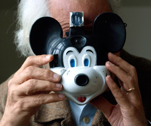 camera, fun, and mickey mouse image