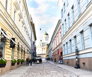 city, helsinki, and old town image