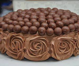 chocolate, cake, and rose image
