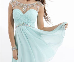 beaded, short, and homecoming dress image