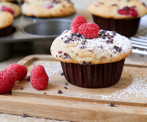 muffin, cupcake, and raspberry image