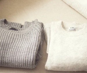 sweater, white, and clothes image