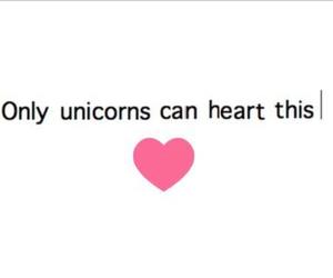 heart, pink, and unicorns image