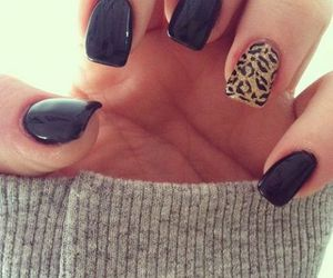 black, nail art, and design image