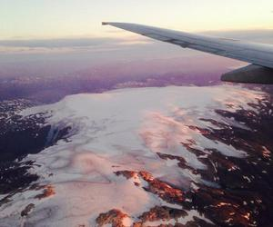 airplane, glacier, and norway image