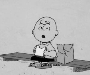 quote, charlie brown, and alone image