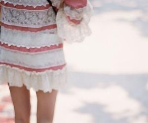 dress, girl, and bag image