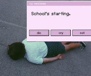 cry, die, and hate school image