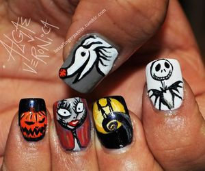 girls, Halloween, and nails image