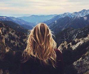 hair, girl, and landscape image