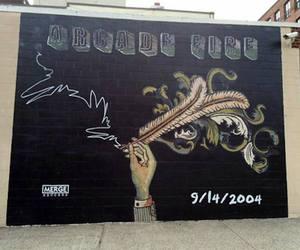 arcade, mural, and Brooklyn image