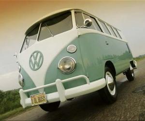 bus, old, and van image