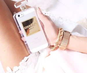 chanel, gold, and handy image