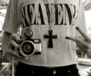 camera, cross, and old image