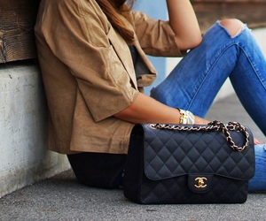 jeans, bag, and fashion image