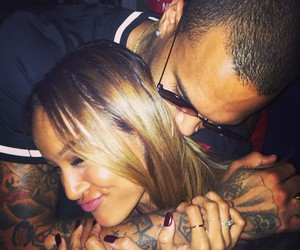 chris brown, karrueche tran, and teambreezy image