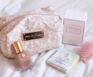 pink, make up, and makeup image