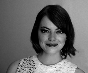 adore, emma stone, and black and white image