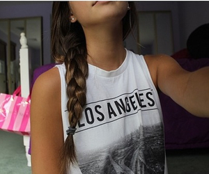 girl, los angeles, and hair image