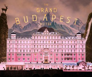 pink, the grand budapest hotel, and film image