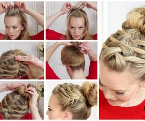blonde, braid, and diy image
