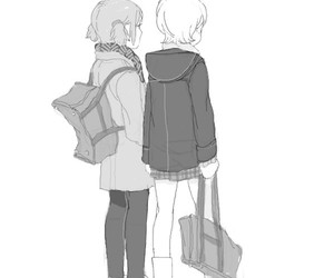 kawaii, girl, and school image