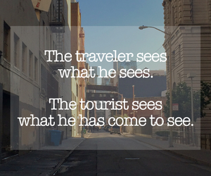quote, tourist, and traveler image