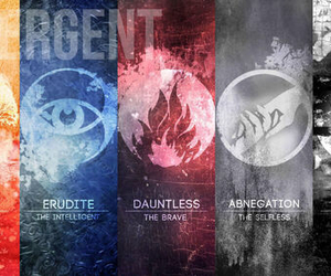 divergent, abnegation, and erudite image