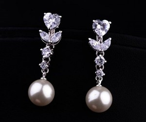 earrings, pretty, and heart image