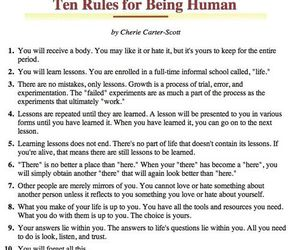 human, learn, and rules image