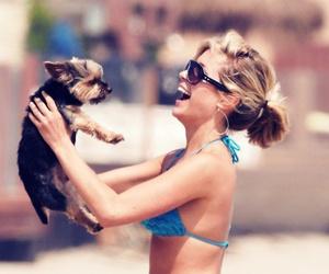 dog, girl, and kristin cavallari image